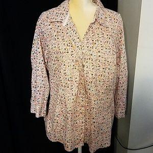 Beautiful Floral blouse women's 3X top